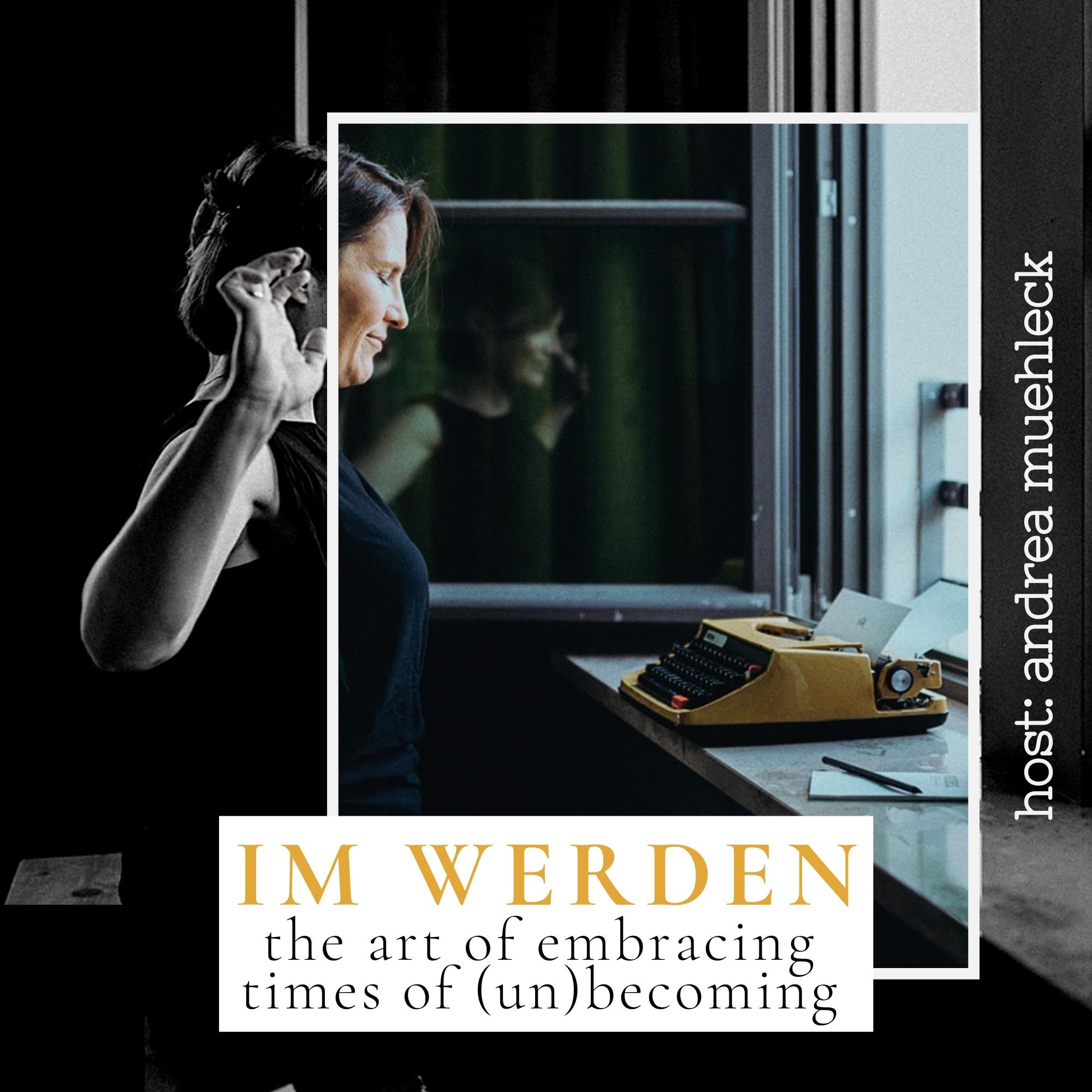 Podcastcover - Andrea sitzt am Fenster, streckt sich und wacht auf